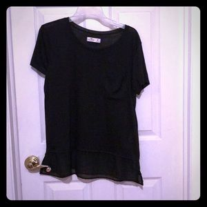 Hollister Black T shirt with sheer black bottom
